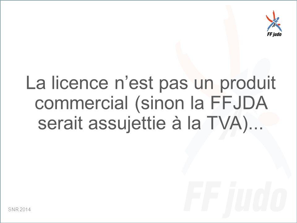 CD – 19-juin-10 La licence n'est pas un produit commercial (sinon la FFJDA serait assujettie à la TVA)...