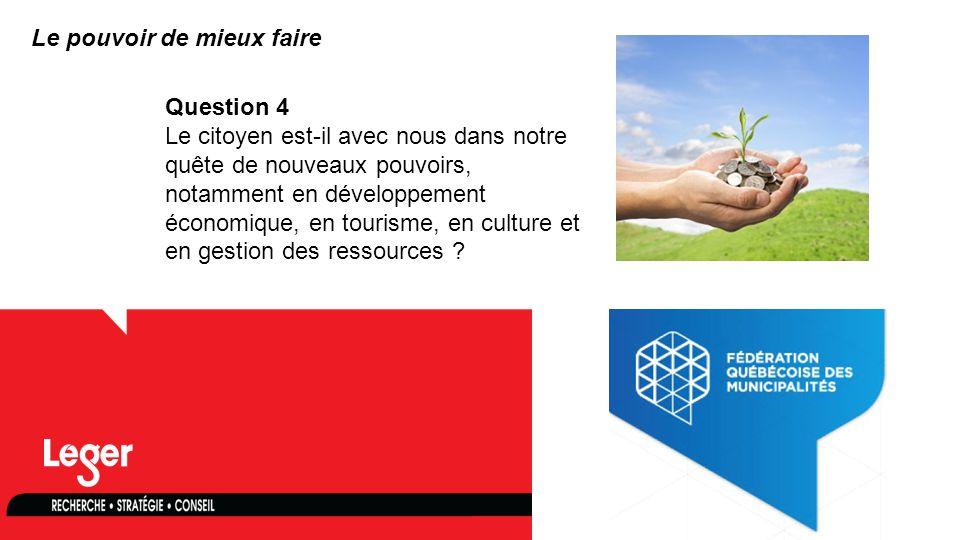 www.leger360.com Question 4 Le citoyen est-il avec nous dans notre quête de nouveaux pouvoirs, notamment en développement économique, en tourisme, en culture et en gestion des ressources .