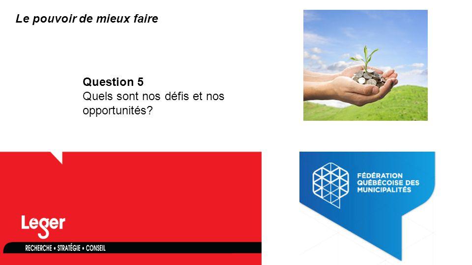 www.leger360.com Question 5 Quels sont nos défis et nos opportunités? Le pouvoir de mieux faire
