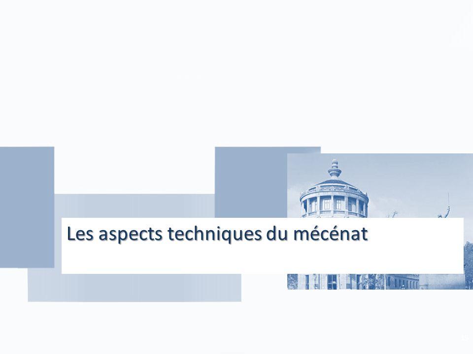 Les aspects techniques du mécénat 19