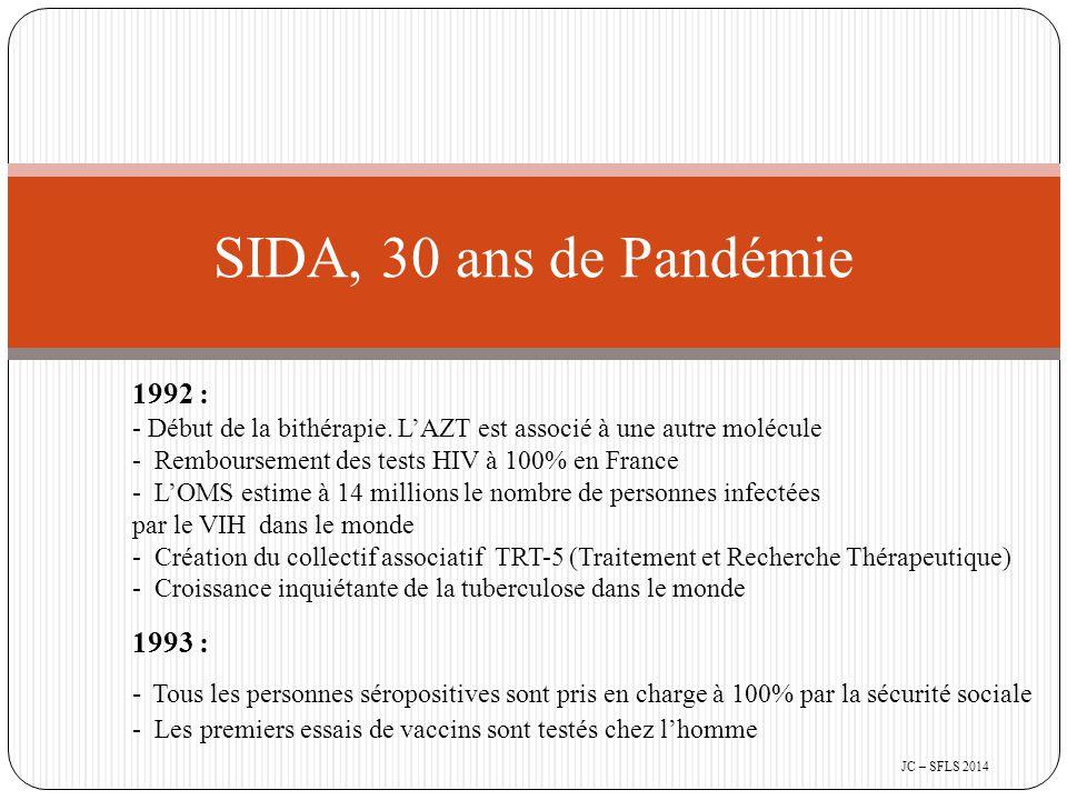 1992 : - Début de la bithérapie.