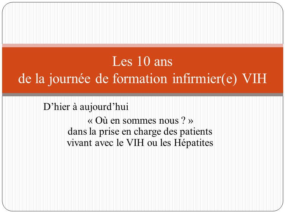 2011 : - De nouvelles famille de traitement sont mises sur le marché, garantissant une meilleure tolérance et une facilité de prise qui améliore la qualité de vie des patients - Arrivée des tests de dépistages rapides à orientation diagnostique (TROD) 2013 : - L'étude VISCONTI menée en France montrant que des personnes vivant avec le VIH traitées très tôt après le début de l'infection peuvent contrôler le virus après arrêt des traitements, c'est la « cure fonctionnelle » SIDA, 30 ans de Pandémie JC – SFLS 2014