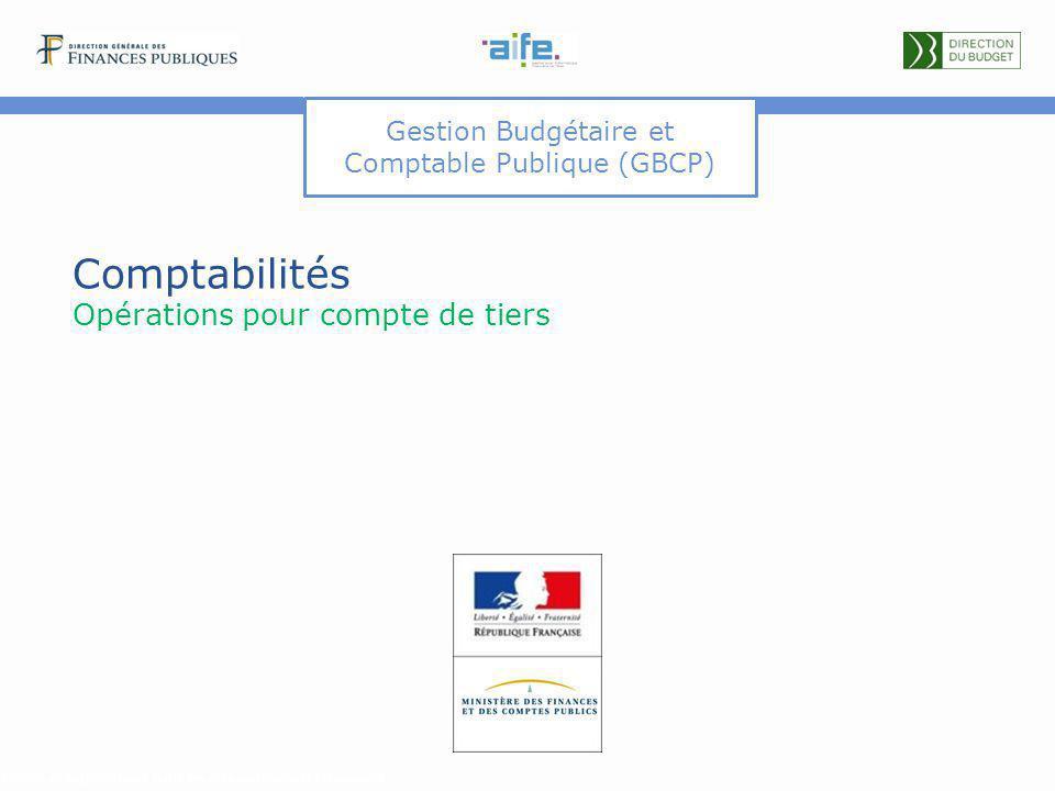 Gestion Budgétaire et Comptable Publique (GBCP) Comptabilités Opérations pour compte de tiers Détails et explicitations dans les commentaires du document