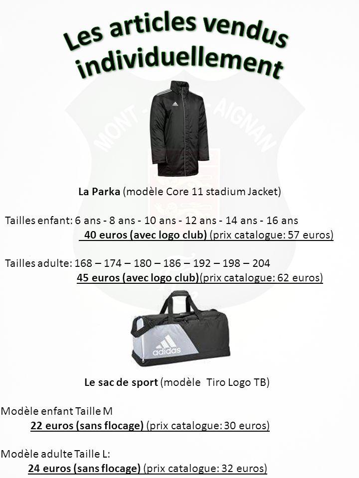Le Survêtement de sortie (modèle Sereno 14 PES Suit) Tailles enfant: 6 ans - 8 ans - 10 ans - 12 ans - 14 ans - 16 ans Tailles adulte: S – M – L – XL – 2XL 40 euros (avec logo club)(prix catalogue: 55 euros) Le T-shirt de sortie (modèle Tabela).