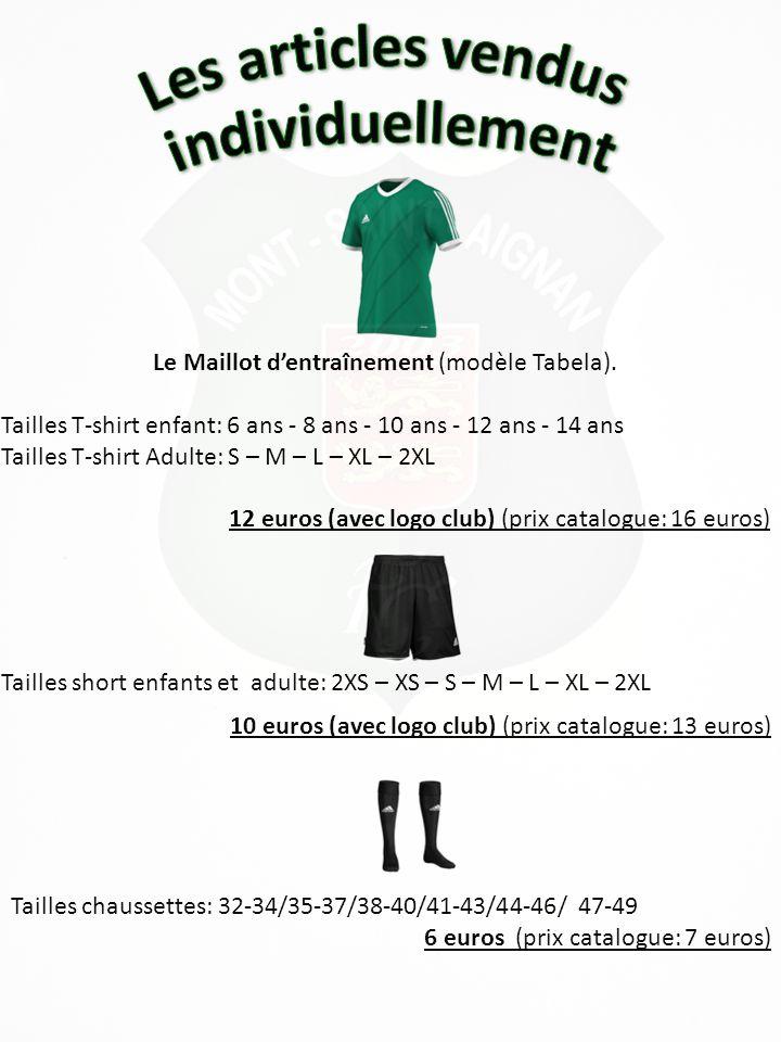 Le Sweat d'entraînement (modèle Core 11) Tailles sweat enfant: 6 ans - 8 ans - 10 ans - 12 ans – 14 ans - 16 ans Tailles sweat adulte: 168 – 174 – 180 – 186 – 192 – 198 – 204 24 euros (avec logo club) (prix catalogue: 32 euros) Le K-Way d'entraînement (modèle Core 11) Tailles K-Way enfant: 6 ans - 8 ans - 10 ans - 12 ans – 14 ans - 16 ans Tailles K-Way adulte: 168 – 174 – 180 – 186 – 192 – 198 – 204 29 euros (avec logo club) (prix catalogue: 38 euros)