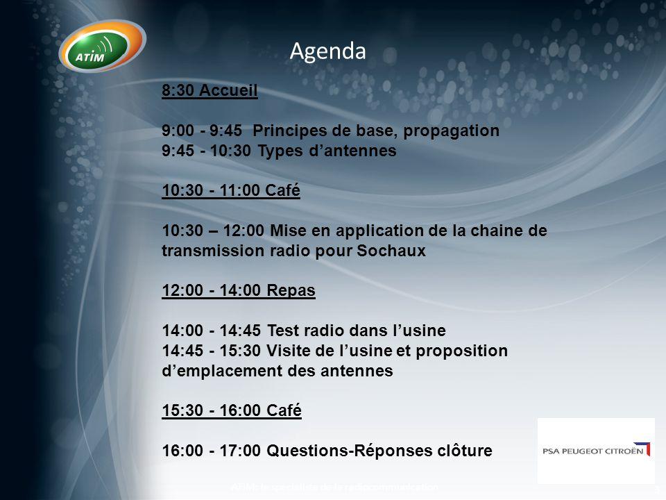 o Zone de Fresnel o Analogie ATIM: le spécialiste de la radiocommunication 14 Fresnel Zone Les fondamentaux de la RF