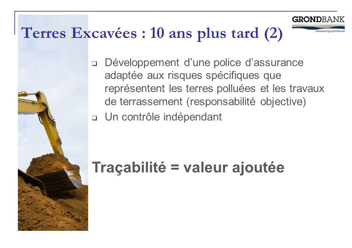 Terres Excavées : 10 ans plus tard (2)  Développement d'une police d'assurance adaptée aux risques spécifiques que représentent les terres polluées e