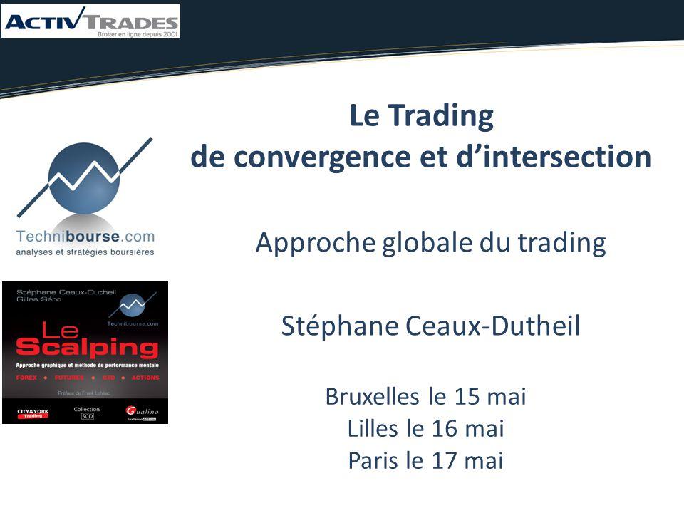 Stéphane Ceaux-Dutheil Bruxelles le 15 mai Lilles le 16 mai Paris le 17 mai Le Trading de convergence et d'intersection Approche globale du trading