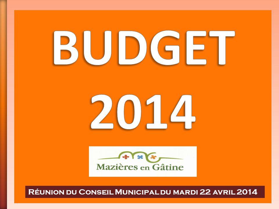 Réunion du Conseil Municipal du mardi 22 avril 2014