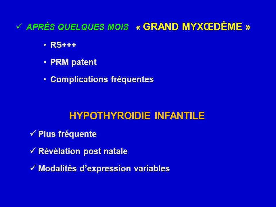 APRÈS QUELQUES MOIS « GRAND MYXŒDÈME » APRÈS QUELQUES MOIS « GRAND MYXŒDÈME » RS+++RS+++ PRM patentPRM patent Complications fréquentesComplications fr