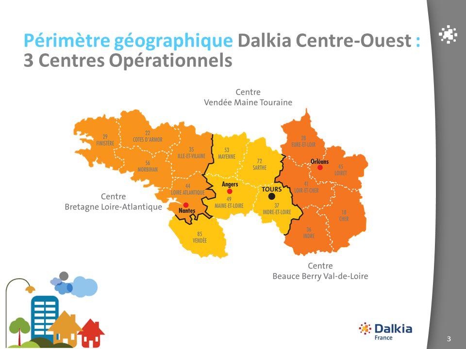4 Périmètre géographique Dalkia Centre-Ouest : 4 Agences Commerciales
