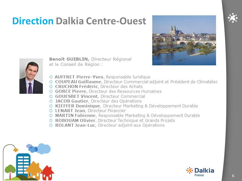 6 Direction Dalkia Centre-Ouest o AUFFRET Pierre-Yves, Responsable Juridique o COUPEAU Guillaume, Directeur Commercial adjoint et Président de Climaté