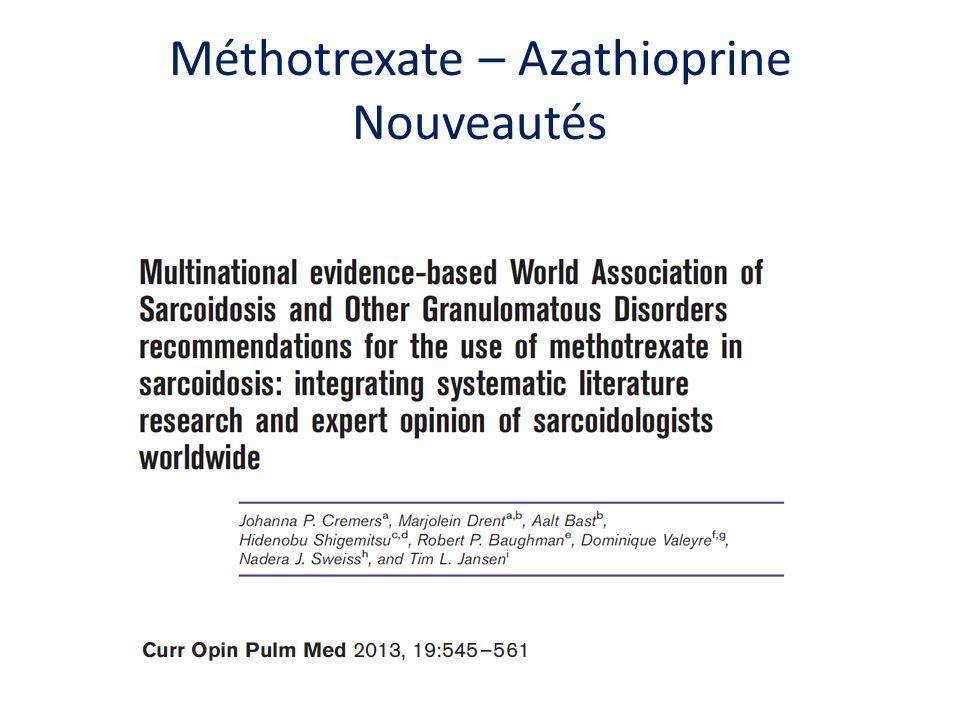 Méthotrexate – Azathioprine Nouveautés