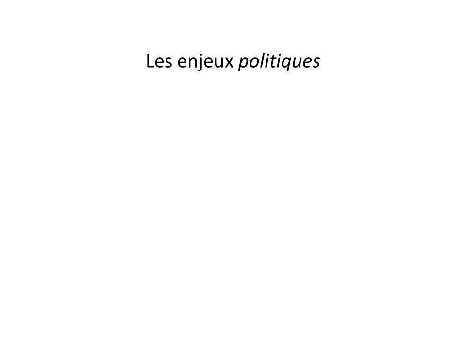 Les enjeux politiques