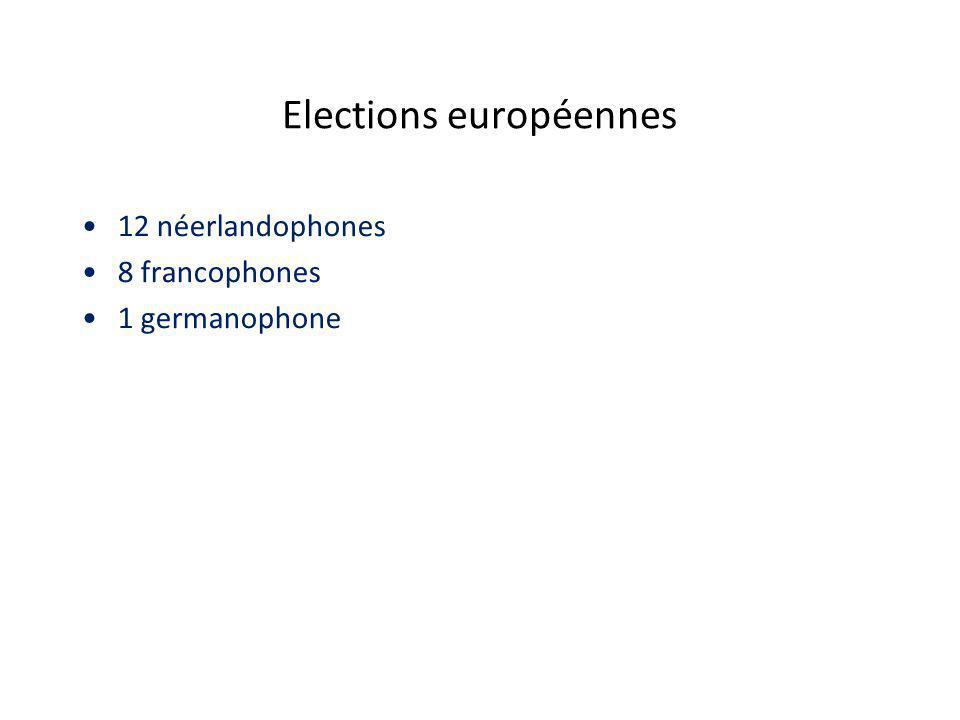 Elections européennes 12 néerlandophones 8 francophones 1 germanophone