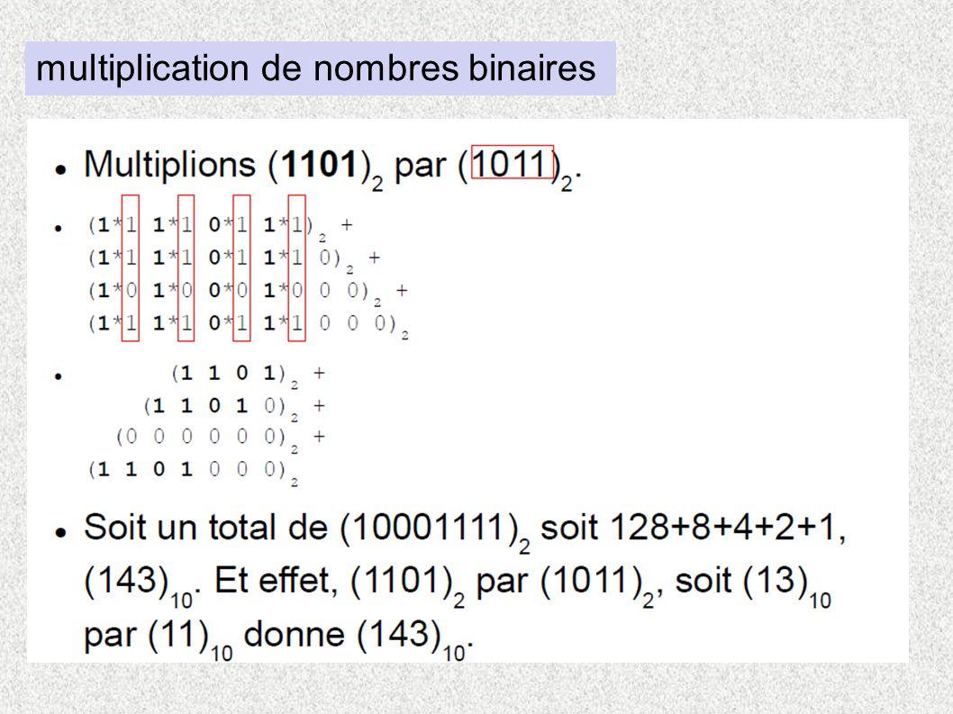 multiplication de nombres binaires