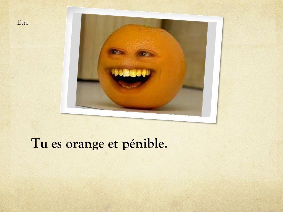 Tu es orange et pénible. Etre