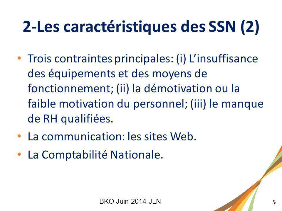 5 Trois contraintes principales: (i) L'insuffisance des équipements et des moyens de fonctionnement; (ii) la démotivation ou la faible motivation du personnel; (iii) le manque de RH qualifiées.