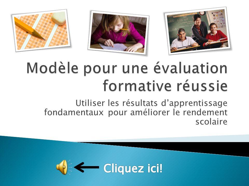 Utiliser les résultats d'apprentissage fondamentaux pour améliorer le rendement scolaire