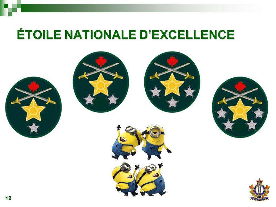12 ÉTOILE NATIONALE D'EXCELLENCE