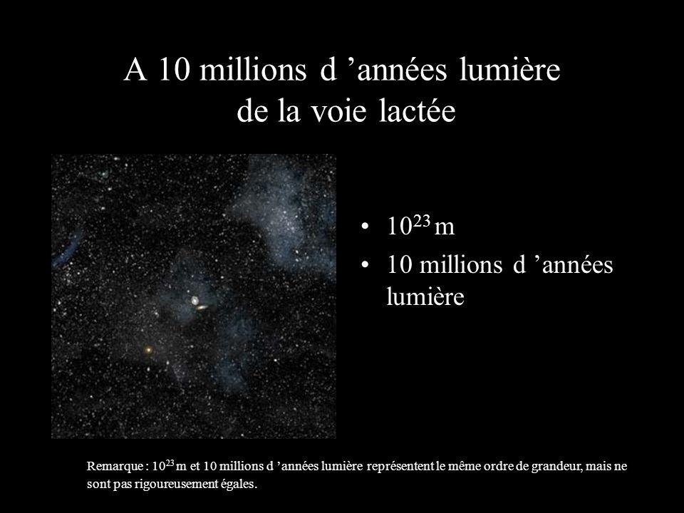 10 22 m 1 million d 'années lumière