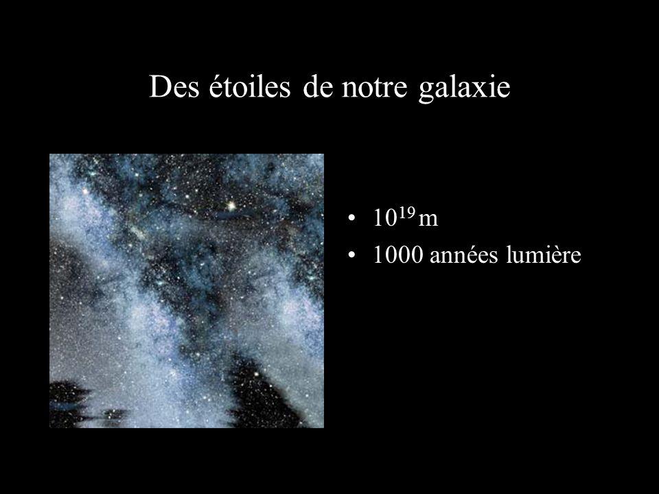 A 100 années lumière de la Terre 10 18 m 100 années lumière