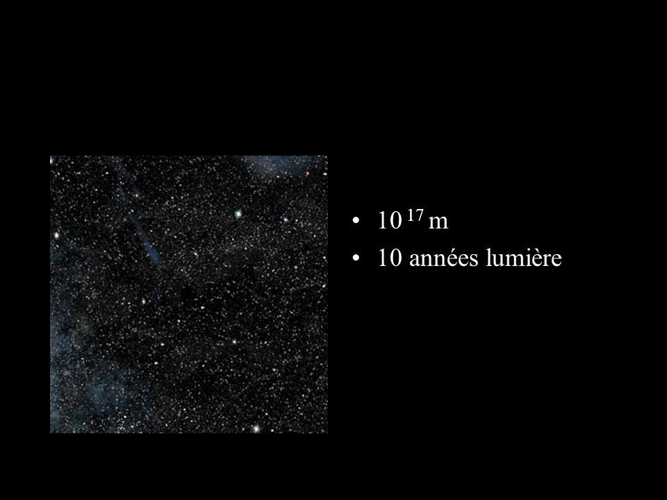 On commence à distinguer le Soleil 10 16 m 1 année lumière