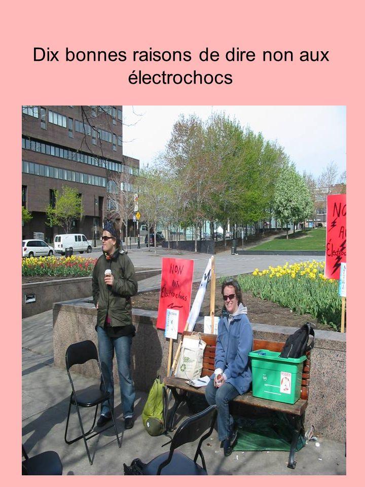 Dix bonnes raisons de dire non aux électrochocs