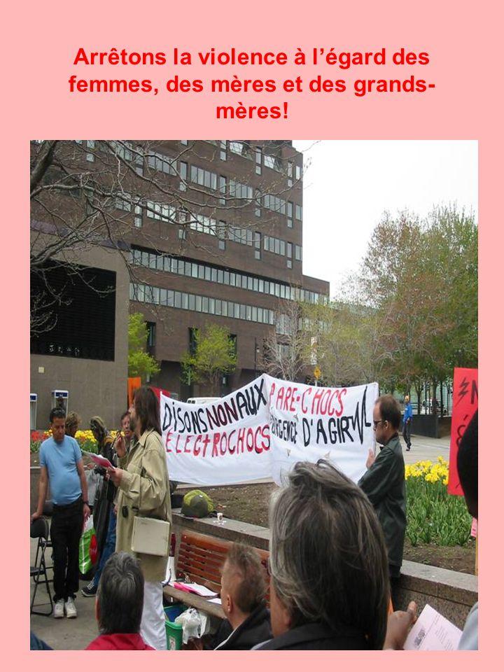 Arrêtons la violence à l'égard des femmes, des mères et des grands- mères!