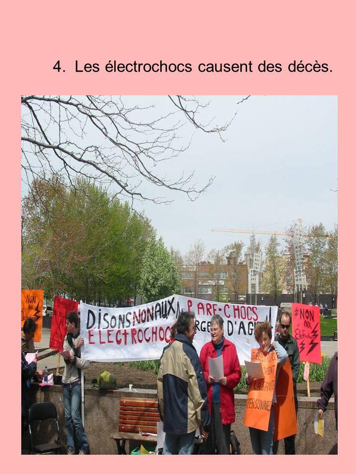 4. Les électrochocs causent des décès.