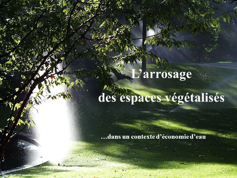 Présentation L'arrosage des espaces végétalisés …dans un contexte d'économie d'eau Denis MARCHE/demarche.paysage