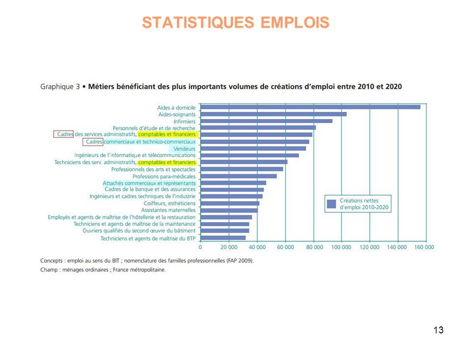 13 STATISTIQUES EMPLOIS