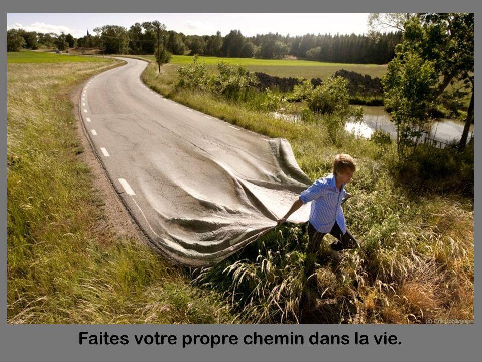 Diaporama PPS réalisé pour http://www.diaporamas-a-la-con.com http://www.diaporamas-a-la-con.com Faites votre propre chemin dans la vie.