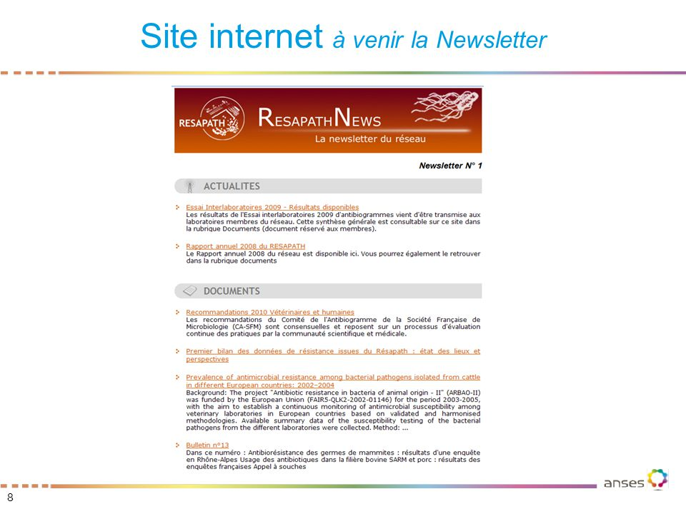 8 Site internet à venir la Newsletter