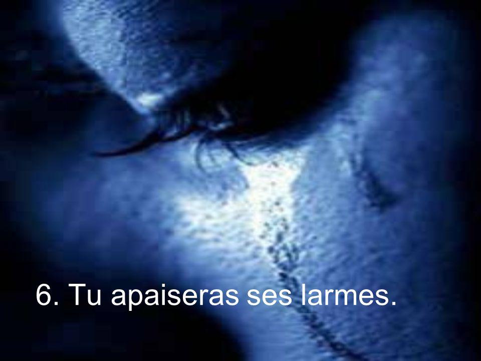 6. Tu apaiseras ses larmes.