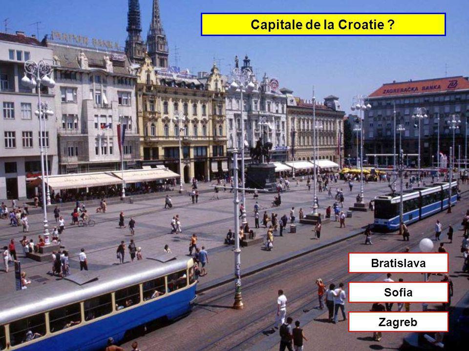 Capitale de la Bosnie-Herzégovine Zagreb Split Sarajevo
