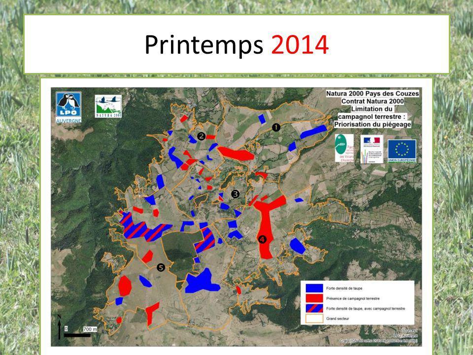 Taux de capture des pièges – Topcat : 32,9% (n = 4650) Répartition des prises dans les pièges topcat (n=1528) – Campagnol terrestre : 97,8% – Taupe : 2,2% 32,5% à l'automne 2010 dans les Hautes Alpes