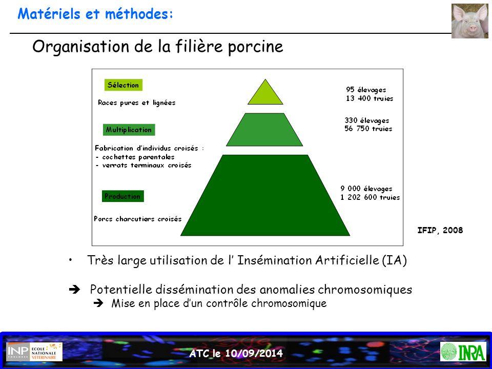 ATC le 10/09/2014 Organisation de la filière porcine Très large utilisation de l' Insémination Artificielle (IA)  Potentielle dissémination des anoma