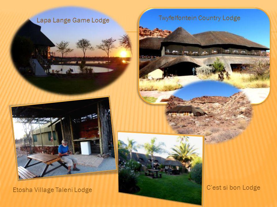 Lapa Lange Game Lodge Twyfelfontein Country Lodge Etosha Village Taleni Lodge C'est si bon Lodge