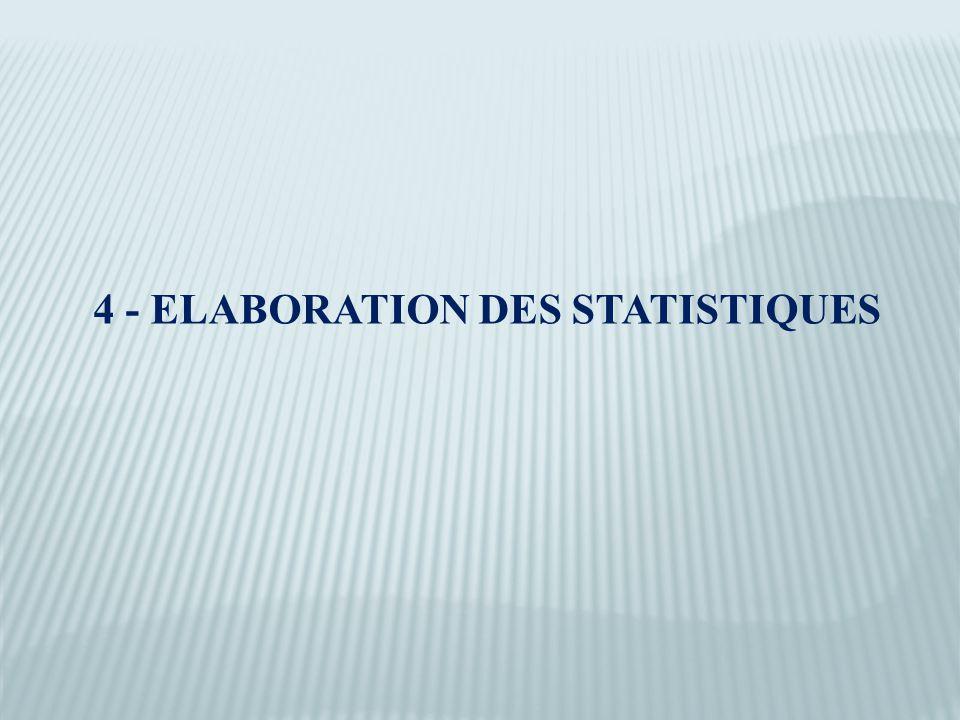 4 - ELABORATION DES STATISTIQUES