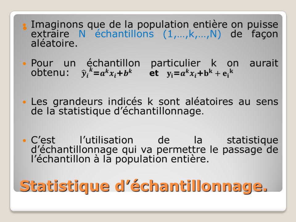 Statistique d'échantillonnage.