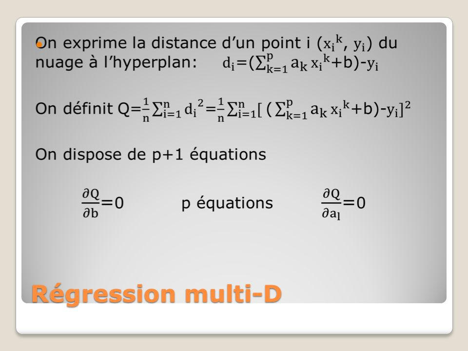 Régression multi-D