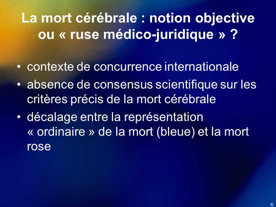 7 Situation législative en Suisse (avant juillet 2007)  lois cantonales avec modèles hétérogènes (« patchwork normatif »): - consentement explicite (« opting-in ») - consentement présumé (« opting-out »)  directives de l'ASSM