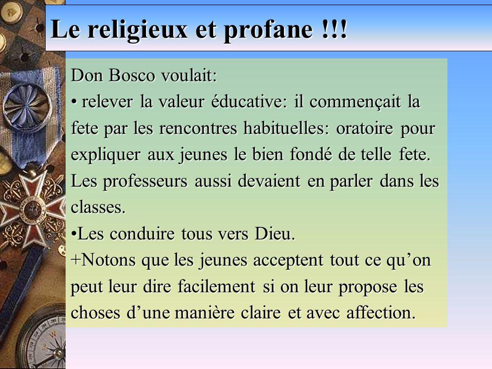 Le religieux et profane !!.