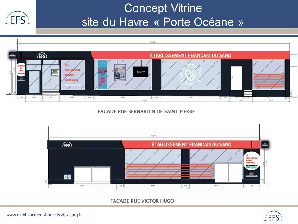 www.etablissement-francais-du-sang.fr Concept Vitrine site du Havre « Porte Océane »