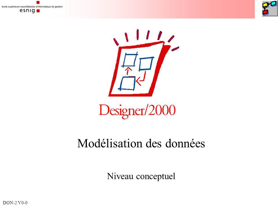Modélisation des données Niveau conceptuel DON-2 V0-0