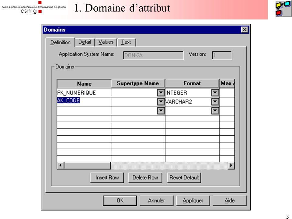 34 Paramétrage de l'assistant Database Transformer