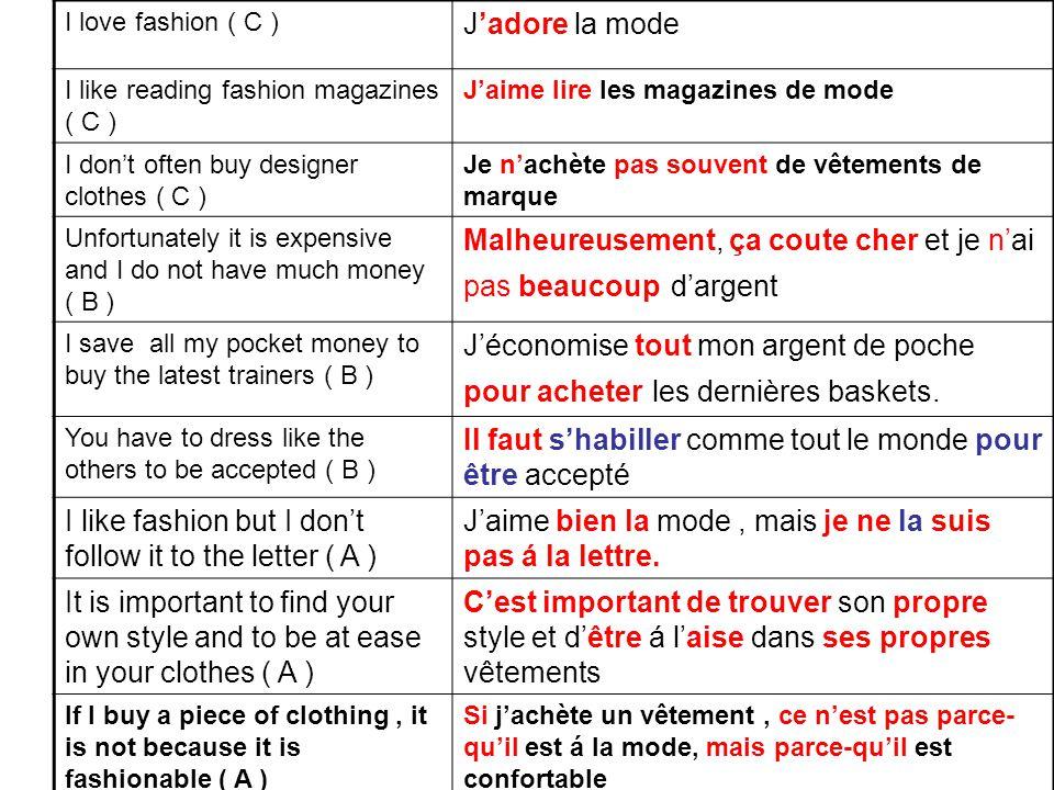 Other A* expressions: beyond parce-que Selon moi, la mode est importante Puisque la mode coute cher, je n'achète pas de Gucci !!.