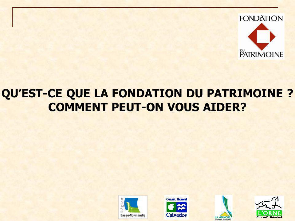 La Fondation du Patrimoine a é t é cr éé e par la loi du 2 juillet 1996, pour promouvoir la connaissance et la mise en valeur du patrimoine : moulins, patrimoines industriels, puits, lavoirs, calvaires, chapelles, é difices ruraux, etc.