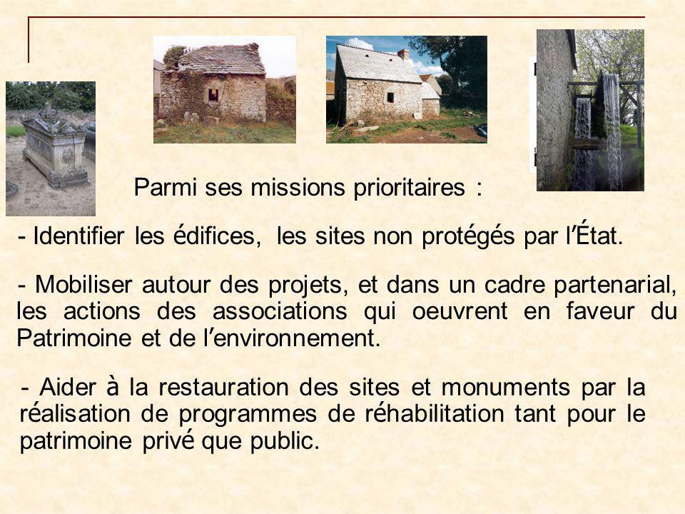 - la Sauvegarde de l'Art français - La SPPEF - Fondation Gaz de France (Vitraux) les banques : - Fondation du Crédit Agricole - Pays de France - Crédit mutuel - Caisse d'Epargne….